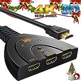 4K HDMI Switcher, AiYun, 3-Port-Hoch Geschwindigkeit-HD-Monitor Anschlusslitzen, unterstützt 4K /...