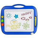 Sgile Zaubermaltafel Bunt Magnetisch Löschbar Zeichenbrett für Kinder mit 3 Form Stempeln...