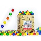 200 Stück 6cm Bälle für Kinder Bällebad Babybälle Plastikbälle ohne gefähliche Weichmacher...