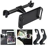 Tablet-Telefonhalterung für Auto Kopfstütze mit 2 Kleiderbügel Haken, AFUNTA Auto-Rückenlehne...