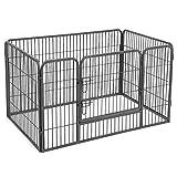 Songmics Welpenfreigehege Welpenzaun Hundegehege Laufstall Zaun Gitter Hasen Kaninchen PPK74G
