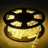 COSTWAY 30M LED Lichterschlauch Lichtschlauch Lichterkette für Außen und Innen mit 1080 LEDs...