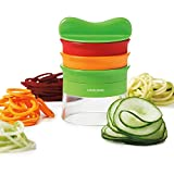 3 Klingen Spiralschneider Set, Gemüsespaghetti kartoffel, Zucchini Spargelschäler,...