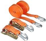 Braun 1000-2-600+3030/VE2 Spanngurt 2000 daN, zweiteilig, Farbe orange, 6 m Länge, 35 mm...