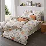 Estella Mako-Interlock-Jersey Bettwäsche 6155-360 orange 155x220 cm + 80x80 cm