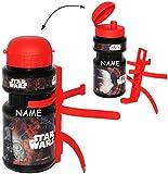 Fahrradtrinkflasche - ' Star Wars - Darth Vader ' - incl. Name - 360 ml - mit Halterung / Halter...