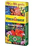 Floragard Blumenerde 70 L + 10 L gratis • Universalerde • für  Balkon-, Kübel- und...