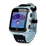 BOGUARD® GPS-Telefon Uhr OHNE Abhörfunktion, für Kinder, SOS Notruf+Telefonfunktion, Live GPS+LBS...