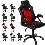 Panorama24 Racing Bürostuhl Gaming Chair Gamer Stuhl, Farbe Rot, in 9 Varianten Drehstuhl...