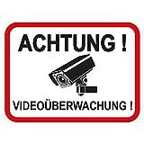 1 Stück Aufkleber 'Achtung Videoüberwachung' 120x90 mm, selbstklebend, kratz und Wetterfest