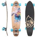 STAR-SKATEBOARDS® Premium Canadian Maple Top Mount Komplett Pro Longboard Skateboard für Kinder...