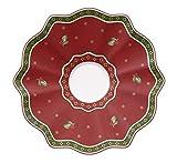Villeroy & Boch untertasse, 18 x 18 x 9,5 cm, rot, Hartporzellan