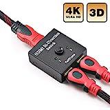 HDMI Switch Bidirektionaler HDMI Umschalter 2 Input to 1 Output oder 1 Input to 2 Output HDMI...