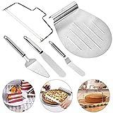 Kuchenheber Set, Queta Tortenheber Set Torten Set inkl, 2 Spatula, Pizzaschaufel, Kuchenheber,...