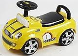 Babyrutscher gelb mit Musik und Licht, Rutscherauto, Babyfahrzeug Rutscher