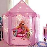 Prinzessin Castle Spielzelt für Kinder, Indoor Kinder Spielhaus mit Durable Bold PVC Stent Easy...