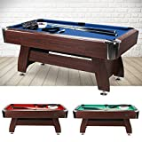 Billard Tisch 6 Fuß FT Billardtisch Pool Table Snookertable Billardtable 183x91 Snookertable...