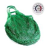 Lantelme 5999 Einkaufsnetz und Kühlschrankthermometer Set - Einkaufstasche XL aus Baumwolle Farbe...