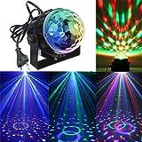 KINGSO Mini LED Lichteffekte Disco Licht Party Licht Bühnenbeleuchtung 3W RGB Sprachaktiviertes...