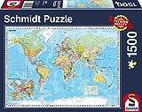 Schmidt Spiele Puzzle 58289 - Die Welt Puzzle, 1500 Teile