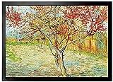 1art1 97016 Vincent Van Gogh - Blühender Pfirsichbaum, Erinnerung An Mauve, 1888 Fußmatte...