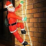 Weihnachtsmann auf Leiter LED beleucht ✔ XXL 240cm ✔ LEDs stromsparend ✔ Innen und Außen ✔...