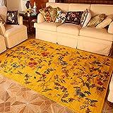 European Style Pastoral Style Teppich Couchtisch Schlafsofa Nachttisch Gelb ( größe : 140×200cm )