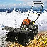 Benzin Kehrmaschine 3 PS Easy- Seilzugstarter Schneeschieber Motorbesen Schneepflug Schneefräse