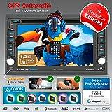2DIN Autoradio CREATONE V-336DG mit GPS Navigation (Europa), Bluetooth, Touchscreen, DVD-Player und...