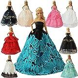 ZITA ELEMENT Los 5 Handgefertigte Mode Partykleider Kleid Outfit für Barbie Kleidung XMAS...