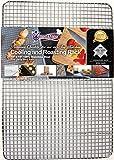 Kitchenatics Edelstahl-Grillrost & Auskühlgitter, passt auf Backbleche für das Backen von Keksen...