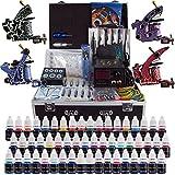Solong Tattoo® Profi Komplett Tattoomaschine Set 4 Tattoo Maschine Guns 54 Farben/Inks Tinte Nadel...