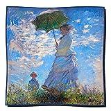 Artis Vivendi Tuch Seidentuch Monet - Frau mit Sonnenschirm 100 x 100 cm
