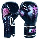 Evo Fitness Ladies GEL Rex - Boxhandschuhe aus Leder für Damen - geeignet für Punching Übungungen...