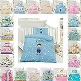 Kinder Bettwäsche 100 x 135 cm + Kissen 40 x 60 cm 100% Baumwolle mit Reißverschluss, Erhältlich...