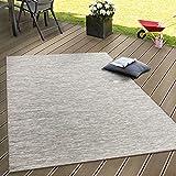 In- & Outdoor Flachgewebe Teppich Terrassen Teppiche Mit Farbverlauf In Beige, Grösse:120x160 cm