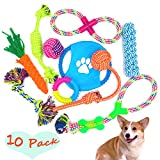 Hundespielzeug Kauspielzeug Interaktives Spielzeug Baumwollknoten Spielset für Hunde Welpen - 10...