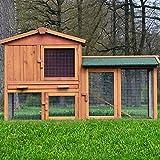ZooPrimus Kleintier-Stall Nr 01 Kaninchen-Käfig 'HASENVILLA' Meerschweinchen-Haus für...