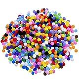 Colorful Pompon Handwerk, Zeitgemäß für Basteln und Hobby Supplies 1cm 1000Stück, Farben...