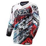 O'Neal Element Jersey ACID blau rot Moto Cross Enduro Motorrad Trikot MX DH, 0016A, Größe Medium