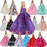 5er Packung Handmade Modisch Hochzeit Party Abendkleid Kleider & Kleidung für Barbie-puppe...