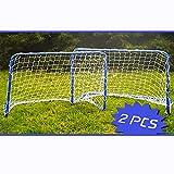 2er SET Metall Fußballtore Fußball Mini Garten Soccer Tor Tore Goal 78x56x45cm