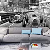 Fototapete Auto 300x210 cm XXL   VLIES TAPETE - Moderne Wanddeko - Fototapete 3D Illusion - Riesen...