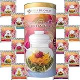 Teabloom Blühende Früchtetees 12er Pack Geschenkset - 12 Sorten Blütentee - Grüner Tee &...