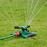 Garten Sprinkler, HEISIAN 360 Grad Drehung Spr¨¹hd¨¹se, Automatik Rasen Wasser Sprinkler System,...