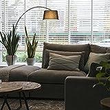 QAZQA Modern Bogenleuchte / Bogenlampe / Lampe / Leuchte Arc schwarz mit schwarzem Stoffschirm /...