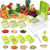 7 Klingen Gemüsehobel Mandoline Gemüseschneider Verstellbarer, Gemüsereibe,Julienneschneider...