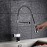 Auralum® Ausziehbare Küchenarmatur Spültischarmatur Einhandmischer Geschirrbrause Wasserhahn...