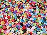 Knöpfe für Kinder RUND, Punkte,Karo und UNI Farben Knopf Kinderknöpfe Bunt Mix Scrapbooking...