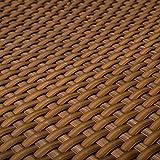 PE-Rattan Terrassen Sichtschutz Balkonbespannung cognac 0,9m breit (Meterware)